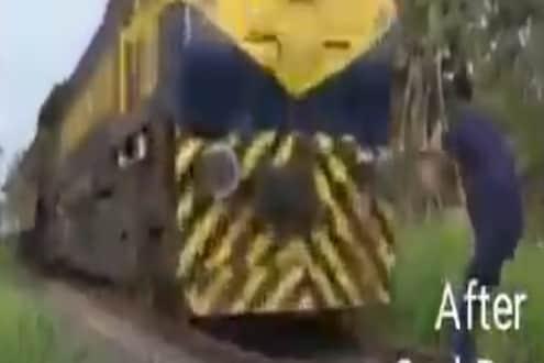 भरधाव ट्रेनसमोर डान्स करत होता आणि पुढे असं काही घडलं की...; VIDEO पाहूनच थक्क व्हाल