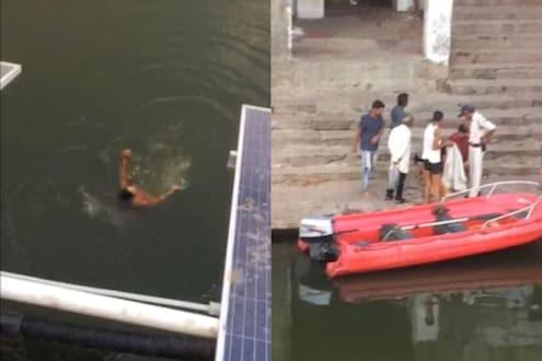Viral Video: पाहता पाहता तरुणीने स्वत:ला तलावात दिलं झोकून; मागून भावानेही मारली उडी, आणि...