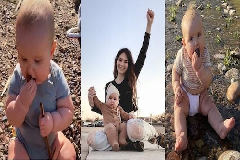 दगड, माती आणि बरंच काही...; अवघ्या 8 महिन्यांच्या बाळाला खायला देते ही आई कारण...