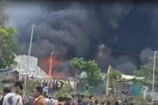 Bhiwandi Fire Video: एशियन पेंट्सची 15 ते 17 गोदामं जळून खाक, आगीचे लोट आसमंतात