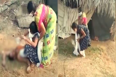 आईने रोखलं तरी कोरोनाग्रस्त बापाला पाणी पाजण्यासाठी लेकीची धडपड; डोळ्यादेखत तडफडून मृत्यू