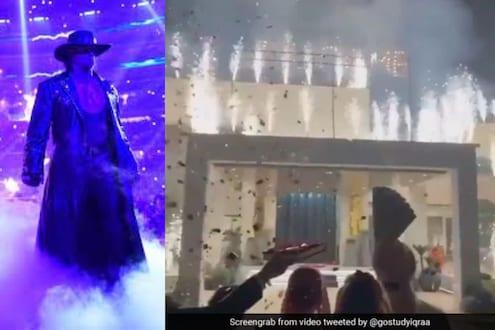 VIDEO : नवरीची एन्ट्री आहे की, Undertaker ची; गृहप्रवेशाचं असं स्वागत तुम्ही कधीच पाहिलं नसेल