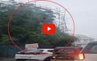 VIDEO: नवी मुंबईतील बेलापूर किल्ल्याचा बुरुज कोसळला