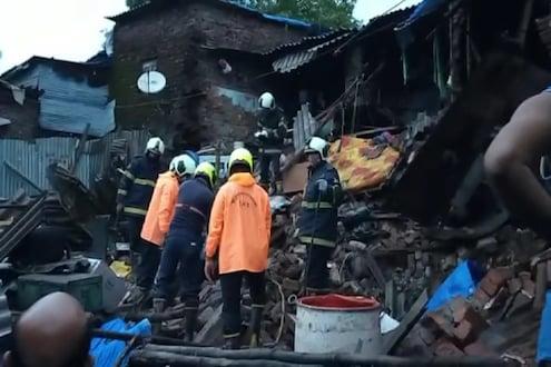 मुसळधार पावसात दहिसरमध्ये 3 घरे कोसळली, एकाचा मृत्यू