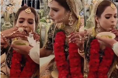 VIDEO: नवऱ्यासाठी नाही या गोष्टीसाठी तरुणीनं केलं लग्न? मंडपातील प्रकार पाहून वरातीही चक्रावले