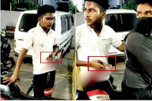 मित्राकडून हत्येचा प्रयत्न; पोटात अडकलेला चाकू घेऊन तरुण पोहोचला पोलीस ठाण्यात, धक्कादायक Video आला समोर