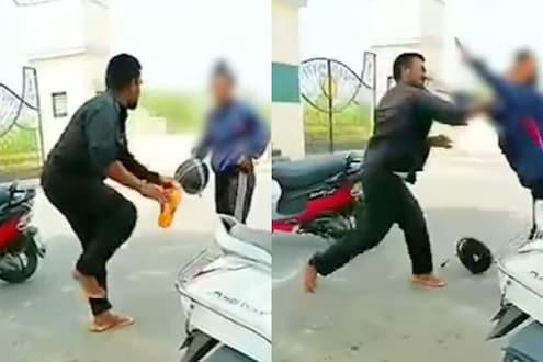 कुठे आहे महिला सुरक्षा? भररस्त्यात महिलेला चपलेने मारहाण; VIDEO शूट करीत राहिले बघे