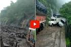 पावसाचा तडाखा! कन्नड घाटात दरड कोसळून महामार्ग बंद, भीषणता दाखवणारा VIDEO