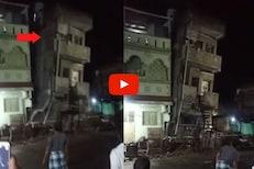 20 सेकंदात तीन मजली इमारत जमीनदोस्त; जळगावातील थरारक घटनेचा LIVE VIDEO