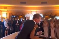 लग्नातील रोमान्स पडला भारी; पाहुण्यांसमोरच धाडकन कोसळले नवरदेव-नवरी, VIDEO