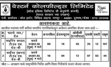 WCL Nagpur Recruitment 2021