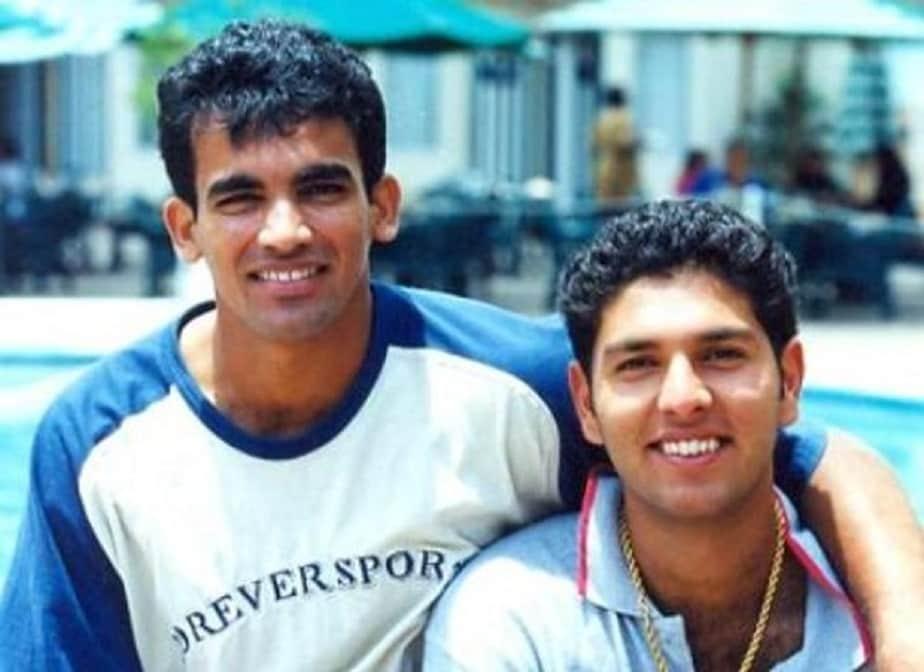 ಟೀಂ ಇಂಡಿಯಾದ ಮಾಜಿ ಆಟಗಾರ ಜಹೀರ್ ಖಾನ್ರೊಂದಿಗೆ ಯುವರಾಜ್ ಸಿಂಗ್