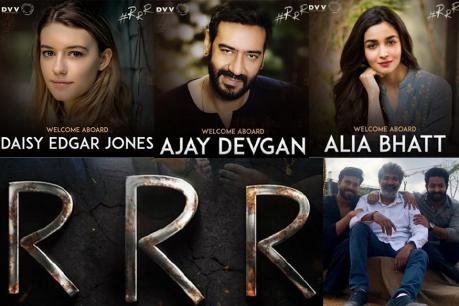 Ajay Devagan and AliaBhat in RRR Movie