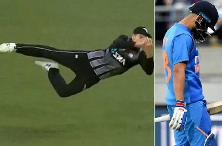 New Zealand vs India: ಸ್ಯಾಂಟ್ನರ್ ಮಿಂಚಿನ ಜಿಗಿತಕ್ಕೆ ಕೊಹ್ಲಿ ಔಟ್; ಇಲ್ಲಿದೆ ರೋಚಕ ವಿಡಿಯೋ
