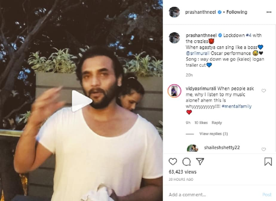 Prashanth Neel Shares a crazy video of Srimurali singing English song