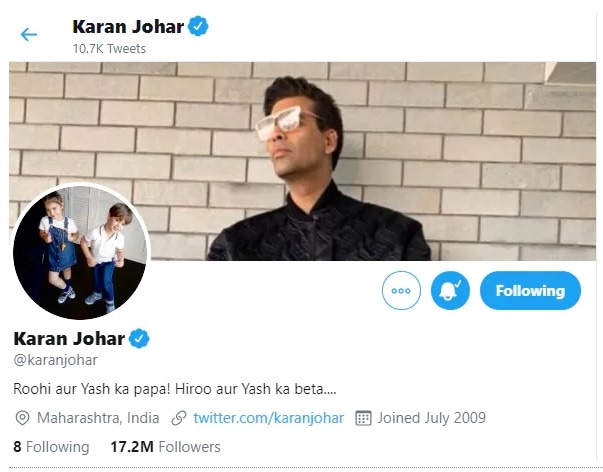 Karan Johar has mysteriously unfollowed certain accounts he was initially following on Twitter