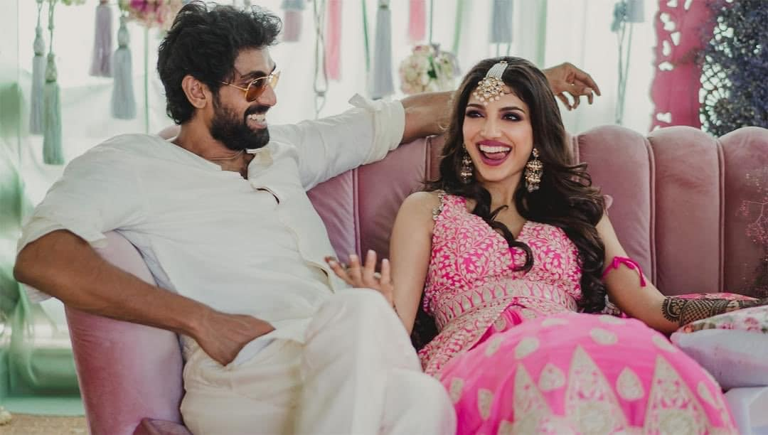 rana daggubati poses for camera with his uncle venkatesh and father suresh babu befor his wedding