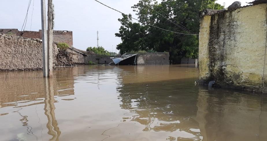 ಅಫಜಲಪುರದ ಉಡಚಣ ಗ್ರಾಮದಲ್ಲಿ ಮನೆಗಳ ಮುಳುಗಡೆ ದೃಶ್ಯ
