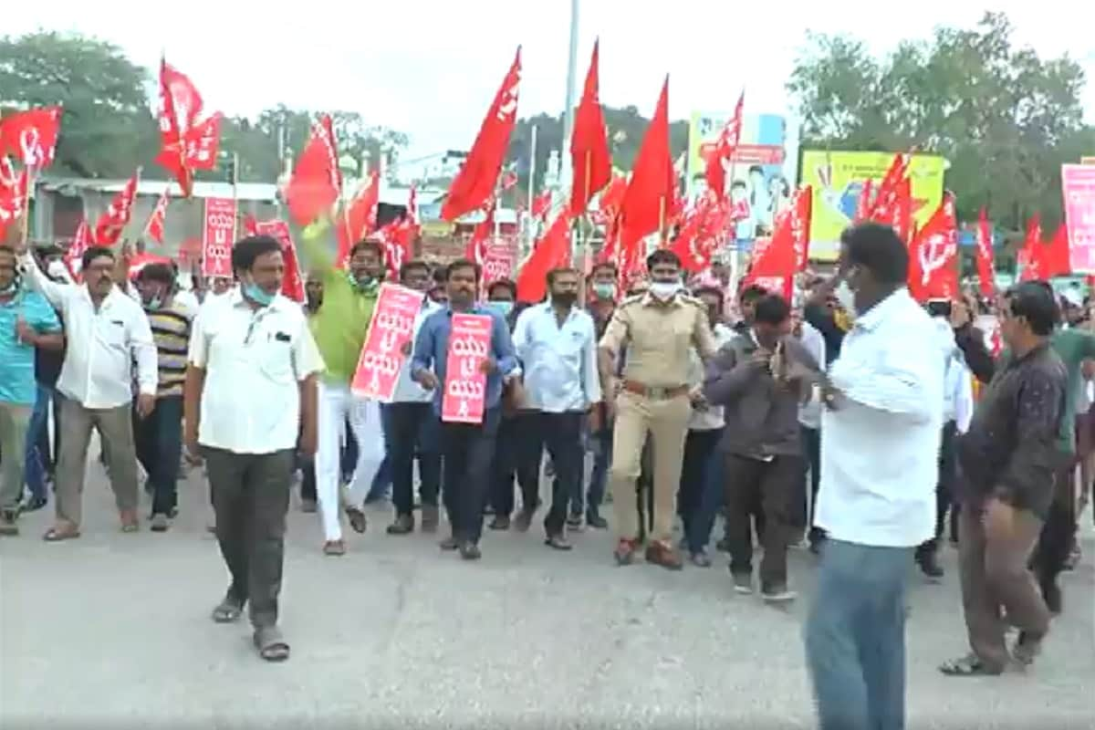Workers protest in Raichur