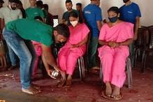 Asha workers: ಕೊರೋನಾ ವಾರಿಯರ್ಸ್ಗೆ ವಿಶೇಷ ನಮನ : ಆಶಾ ಕಾರ್ಯಕರ್ತೆಯರ ಪಾದಪೂಜೆ ಮಾಡುವ ಮೂಲಕ ಗೌರವ