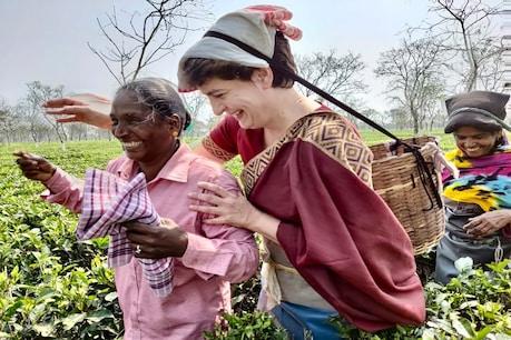 Priyanka Gandhi: ಅಸ್ಸಾಂನಲ್ಲಿ ಟೀ ತೋಟದ ಕಾರ್ಮಿಕರೊಂದಿಗೆ ದಿನ ಕಳೆದ ಕಾಂಗ್ರೆಸ್ ನಾಯಕಿ ಪ್ರಿಯಾಂಕಾ ಗಾಂಧಿ
