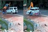 Video|പാഞ്ഞടുത്ത ജെസിബി ദുരന്തം ബൊലേറോ യിൽ തട്ടി നിന്നു; മുഹമ്മദ് സാലിഹിന് ഇത് രണ്ടാംജന്മം