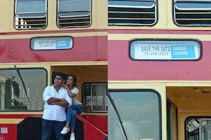 ആനവണ്ടിയിൽ പ്രീ വെഡ്ഡിംഗ് ഫോട്ടോ ഷൂട്ട്; കെഎസ്ആർടിസി ഡബിൾ ഡക്കറിലെ ആദ്യ ഫോട്ടോഷൂട്ട് ഇതാ