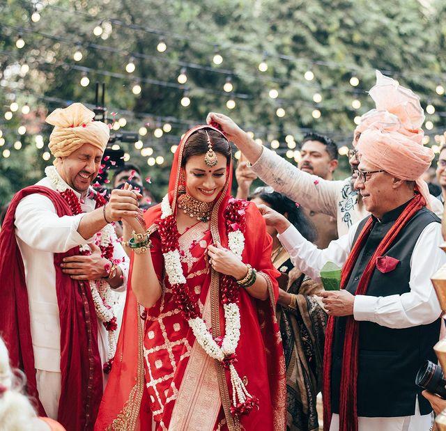 ദിയ മിർസയുടെ വിവാഹ വേളയിലെ ചിത്രം