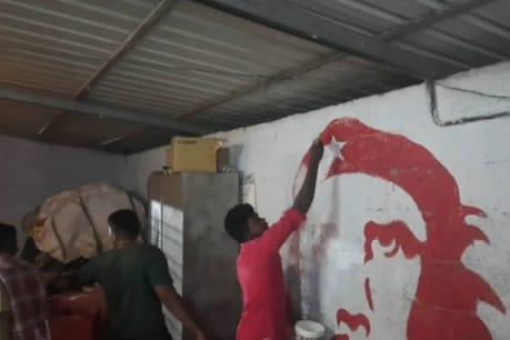 CPM ബ്രാഞ്ച് ഓഫീസിലെ ചെഗുവേരയെ മായ്ച്ചു കളഞ്ഞു; കോവളത്ത് CPM ബ്രാഞ്ച് ഓഫീസോടെ BJPയിൽ