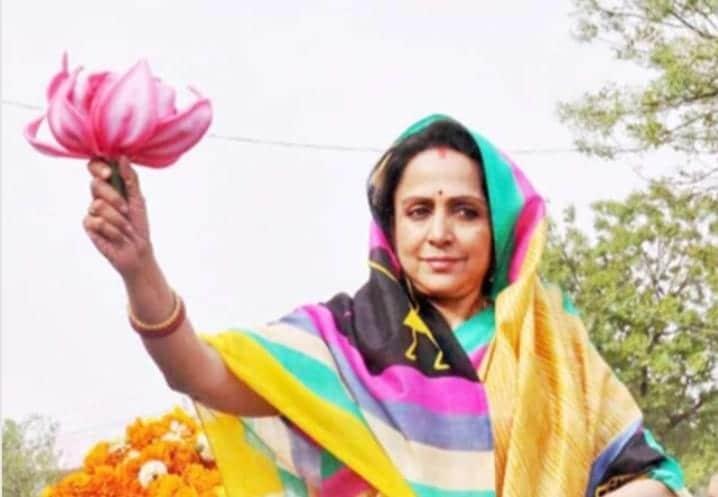 ഹേമമാലിനി: 1970-1990 കാലഘട്ടത്തിൽ ബോളിവുഡിലെ സൂപ്പർ ഹിറ്റ് നായികമാരിലൊരാളായിരുന്നു ഹേമമാലിനി. മികച്ച ക്ലാസിക്കൽ ഡാൻസർ കൂടിയായ അവർ അമിതാഭ് ബച്ചൻ, ധർമ്മേന്ദ്ര, രാജേഷ് ഖന്ന തുടങ്ങി അക്കാലത്തെ മുൻനിര നായകന്മാര്ക്കൊപ്പം അഭിനയിച്ചിട്ടുണ്ട്. 2004 ലാണ് ഹേമമാലിനി ബിജെപിയിൽ ചേരുന്നത്. നിലവിൽ യുപി മഥുര മണ്ഡലത്തിൽ നിന്നുള്ള എംപിയാണ്