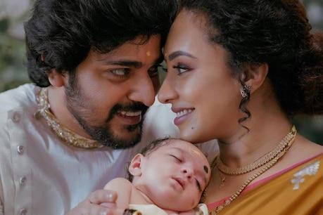 കുഞ്ഞു 'നില' യുടെ ചിത്രവുമായി പേളി മാണി; ആരാധകർക്കായി മകളുടെ പേരും ചിത്രവും പങ്കുവെച്ച് പേളിയും ശ്രീനീഷും