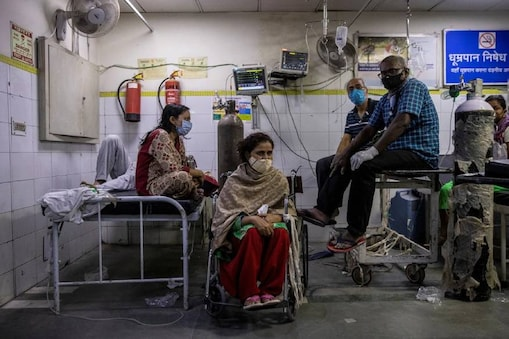 File photo of Covid-19 patients at a hospital in India.