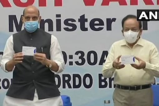 Rajnath Singh and Harsh Vardhan launched DRDO's drug on May 17.