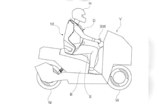 Italdesign Seatbelt for Two-Wheelers. (Image source: Cycle World)