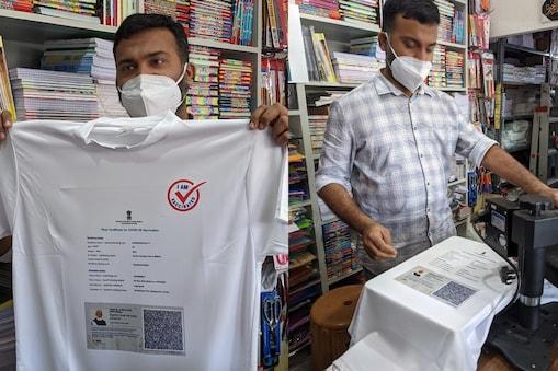 vaccine certificate t-shirt