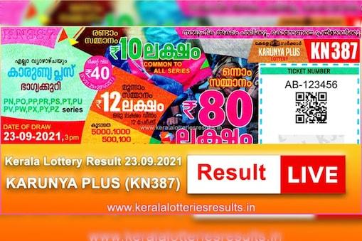 karunya plus kn-387 kerala lottery result