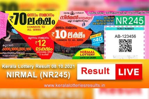 nirmal nr-245 kerala lottery result
