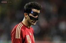 Cesc Fabregas scores in Spain's 2-1 win over Costa Rica