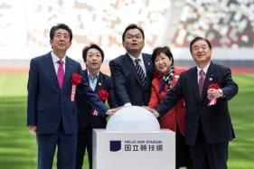 Japanese PM Shinzo Abe Opens Tokyo 2020 National Stadium Ahead of Olympics