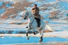Kim Jong-un Scales Sacred Mount Paektu on Horseback; See Pictures