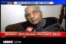 Shanti Bhushan praises Kiran Bedi for Delhi CM post, AAP distances itself