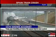 Watch: CCTV footage of the Spain train accident
