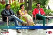 e Lounge Unwind: Kangana, Rajkumar, Vikas talk about 'Queen'
