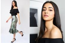 Ananya Panday Shines Her Way with a Shimmery Bandeau Silhouette