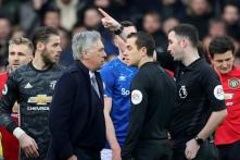 Premier League: Everton Draw Manchester United 1-1 as Carlo Ancelotti is Sent Off After VAR Rules Out Late Goal