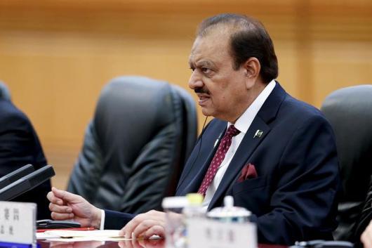 File photo of Pakistan President Mamnoon Hussain. (Reuters)