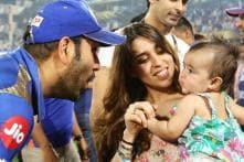 Rohit Celebrates MI's Fourth Title with Daughter Samaira