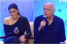 Alia Tries to Prevent Mahesh Bhatt from Shouting During Media Interaction