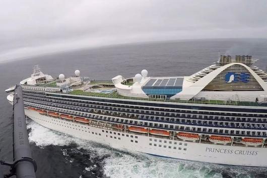Grand Princess, cordoned off San Francisco amid coronavirus outbreak. (Reuters)
