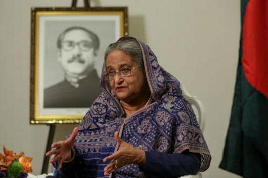 File picture of Bangladesh PM Sheikh Hasina. (Reuters)